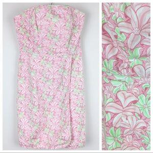 Vineyard Vines | Pink/Green Floral Strapless Dress